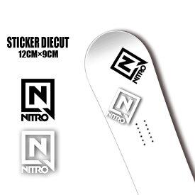 ステッカー NITRO STICKER DIECUT Sサイズ カッティング 字抜き スノーボード SNOWBOARD【店頭受取対応商品】