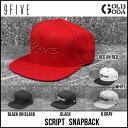 キャップ 9FIVE SCRIPT SNAPBACK ナインファイブ 帽子 フリーサイズ スケート HIP HOP界やNBAからも支持