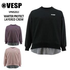 予約 べスプ 防水トレーナー VESP WARTER PROTECT LAYERED CREW(VPMS2013) 21-22 スエット スノーボード スノボ
