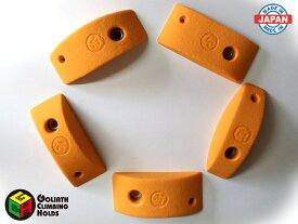 クライミングホールド 5個セット カラーが選べる トラッドボルトオン Mサイズピンチセット(A) ボルト・木ネジ付属 ゴライアス 日本製 製造者直売 ボルト ネジ付き ボルダリング トレーニング ロッククライミング インテリア 子供 ポリウレタン製