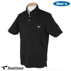 ツアーステージ メンズ 半袖 ポロシャツ ボタンダウン ポケット付き NTM04A