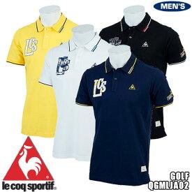 ルコック ゴルフ メンズ 半袖ポロシャツ オーガニックコットン素材 QGMLJA02