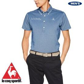 ルコック ゴルフ メンズ T/Cエイトロックシャンブレー鹿の子半袖シャツ 2020年春夏モデル QGMNJA01