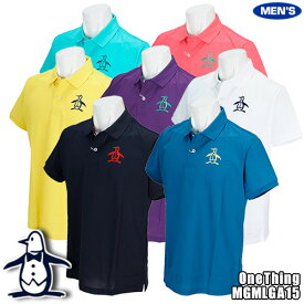 マンシング One Thing by Munsingwear メンズ 半袖ポロシャツ ソリッドカラー クーリング効果 MGMLGA15