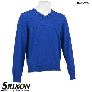 スリクソン バイ デサント メンズ カシミヤVネックセーター 2020年秋冬モデル RGMQJL10