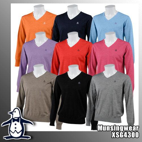 マンシング One Thing by Munsingwear メンズ Vネックウールセーター ヒートナビ保温 XSG4300