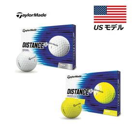 【US輸入品】 テーラーメイド ディスタンスプラス ゴルフボール メンズゴルフボール 1ダース [12球入り] Taylormade Distance+