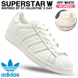 アディダスオリジナルス スニーカー adidas originals SUPERSTAR W スーパースター W オフホワイト/オフホワイト レディースシューズ CG6010