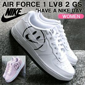 ナイキ スニーカー NIKE AIR FORCE 1 LV8 2 GS エアフォース 1 LV8 2 GS ハブ ア ナイキ デイ/Have a Nike Day レディースシューズ AV0742