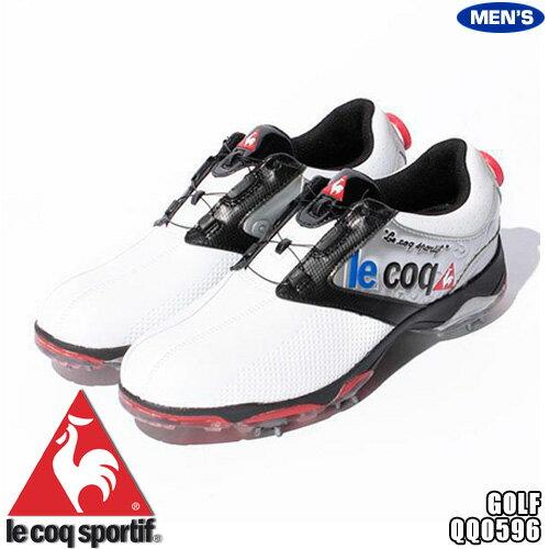 ルコック メンズ ゴルフシューズ ワイヤーロックシステム [ホワイト×シルバー×ブラック] QQ0596