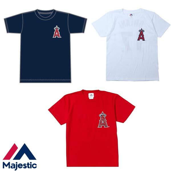 マジェスティック 大谷翔平 ロサンゼルス・エンゼルス 胸ロゴネーム&ナンバーTシャツ  MM08-ANG-0099