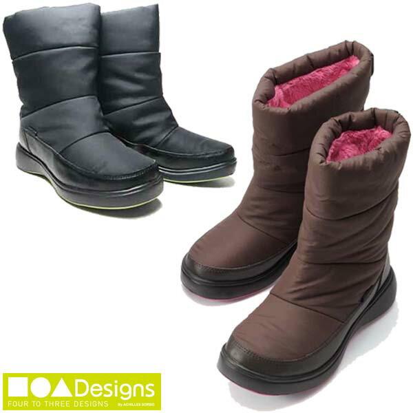 【SALE】【送料無料】 アキレス ソルボ ■●▲DESIGNS 防水 レディース 軽量 ミドル丈ブーツ CUD0400