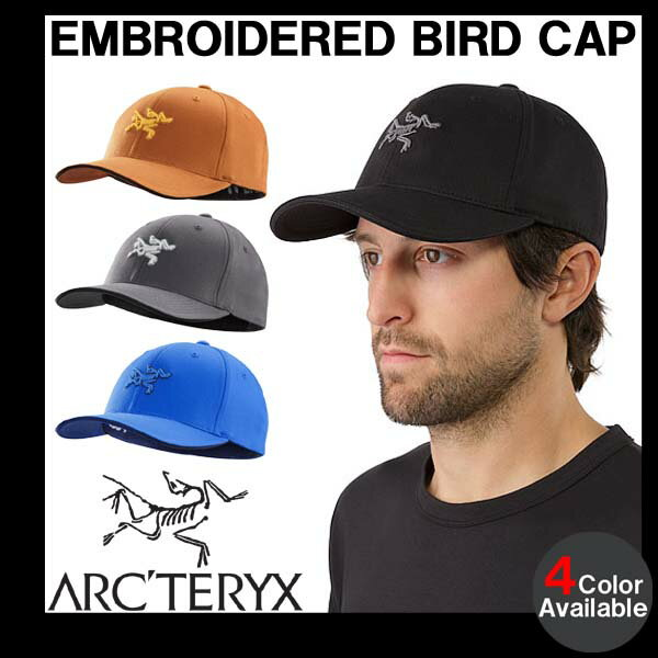 男性用 キャップ アークテリクス ARC'TERYX EMBROIDERED BIRD CAP 刺繍ロゴ メンズ キャップ 7978
