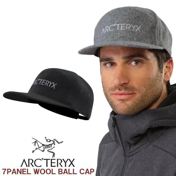 フラットビル キャップ アークテリクス ARC'TERYX 7 PANEL WOOL BALL CAP セブンパネル ウールボール キャップ 20827