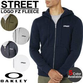 パーカー 日本正規品 OAKLEY オークリー ストリートロゴ フルジップ フリース フーディ メンズ 472417