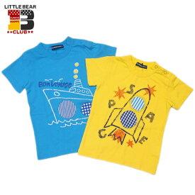 ★SALE(セール)★Tシャツ リトルベアクラブ LITTLE BEAR CLUB 男の子 80cm 90cm 95cm 100cm 110cm 120cm くり抜き天竺Tシャツ