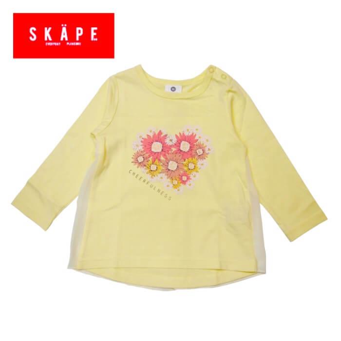 Tシャツ エスケープ 11271509 フラワーブーケTシャツ 女の子 90cm 100cm 110cm 120cm 130cm SKAPE