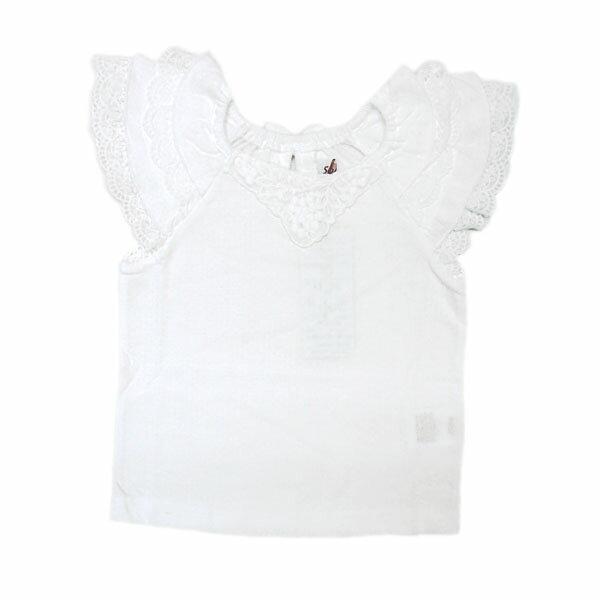 Tシャツ スーリー Souris 女の子 80cm 90cm 95cm 100cm 110cm 120cm 130cm 140cm レースフリル袖Tブラウス