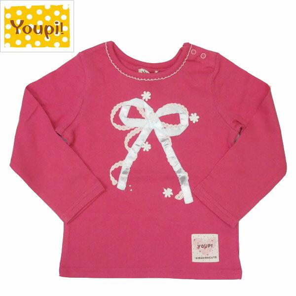 ★SALE(セール)★Tシャツ ユッピー Youpi! 女の子 95cm 100cm 110cm リボン・花モチーフTシャツ