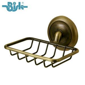 BISK(ビスク) DECO アンティークシャワーソープディッシュ ソープバスケット 石鹸置き せっけん置き 幅13.0cm (アンティーク/真鍮) 壁掛け ネジ付属