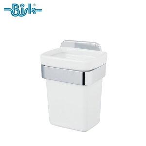 BISK(ビスク) TORE タンブラー 洗面所 おしゃれ セラミック 陶器 ステンレス (シルバー:クロムコーティング仕上げ/強化ガラス/壁取付 ネジ付)