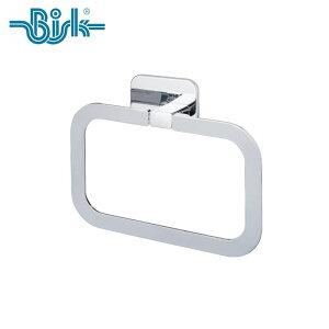 BISK(ビスク) TORE タオルリング シルバー タオル幅約16.2cm トイレ 洗面所 おしゃれ ステンレス (シルバー:クロムコーティング仕上げ/壁取付 ネジ付 / 3M製 両面テープ付属) 収納フック 壁掛け ネ