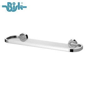 BISK(ビスク) VENTURA ガラスシェルフ 化粧棚 ウォールシェルフ 幅458mm (ZnAlステンレス合金/シルバー/クロムコーティング仕上げ) 壁掛け ネジ付属