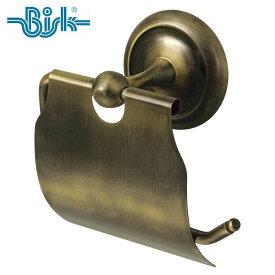 BISK(ビスク) DECO トイレットペーパーホルダー アンティーク 真鍮 幅11.5cm シングル 壁掛け ネジ付属 紙巻器