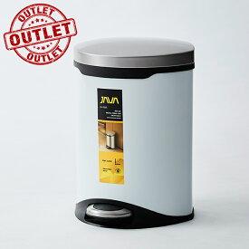 【展示品売り切り処分・アウトレット・セール】40%OFF JAVA Belle ペダルビン ステンレス ゴミ箱 6L ホワイト