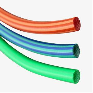 トヨックス(TOYOX)ヒットランホース 特殊ポリウレタン樹脂製のエア圧送用耐圧ホース・ホース表面がすべりやすく絡まらない。 HR-6(6.3x10) 10M