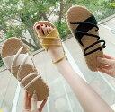 『2Way』ぺたんこサンダル レディース靴 柔らかい素材  ビーチサンダル コンフォートサンダル ローヒールサンダル …