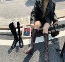レディースブーツ ロングブーツ エンジニアブーツ ジョッキーブーツ ぺたんこ スクエアトゥ 裏起毛 暖かい 長…