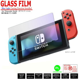 Nintendo Switch ガラスフィルム 【 ブルーライト 80%カット 】 保護フィルム 任天堂 スイッチ フィルム 強化保護ガラス 硬度9H 【ポイント消化】