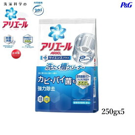 【ケース販売】 【5パック】P&G アリエール 洗たく槽クリーナー 250g×5個【ポイント消化】