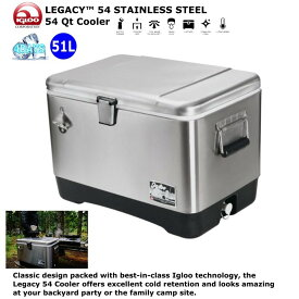 【IGLOO】【ステンレス】イグルー クーラーボックス 51L LEGACY™ 54 STAINLESS STEEL