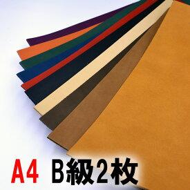 【ネコポス可】B級×2枚セット ヌメ調レザー《べリンダ》/A4サイズ