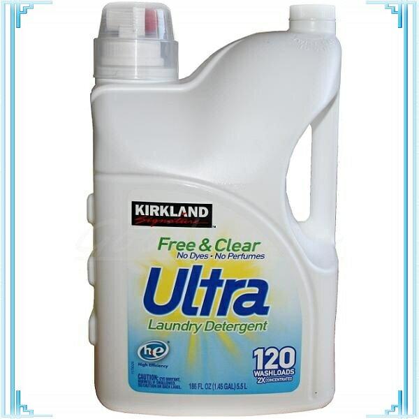 【送料無料】【無香料】 【大容量5.5L】カークランド白 フリー&クリア液体洗濯洗剤 5.5L【濃縮2倍】【送料無料】【コストコ通販】【送料無料:沖縄・一部離島は対象外】