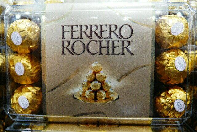 【30個お徳用】【バレンタインデー】FERRERO ROCHER 【フェレロ ロシェ】 チョコレート 30個入りお徳用パック  【FERRERO Rondnoir】【コストコ通販】