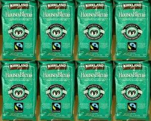8個セット【送料無料:地域限定】【KS カークランドスグネチャー スターバックス】 コーヒー豆(緑)【スタバ ロースト ハウス ブレンド】【STARBUCKS COFFEE】907g【コストコ通販】【