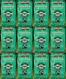 12個セット【送料無料:地域限定】【KS カークランドスグネチャー スターバックス】 コーヒー豆(緑)【スタバ ロースト ハウス ブレンド】【STARBUCKS COFFEE】907g【コストコ通販】【