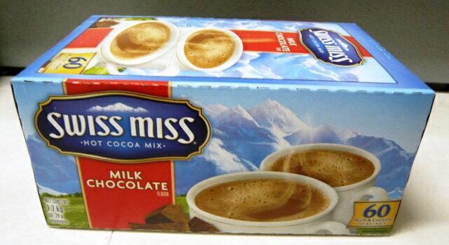【お得な60袋入り】【SWISS MISS】 スイスミス ミルクチョコレート 60袋入り 【RICH CHOCOLATE(ココア)】 (アイスココア ホットココア) SWISS MISS Hot Cocoa Mix【コストコ通販】