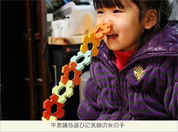 【送料無料】●HEXA(へクサ)知育玩具ブロック型はめ木のおもちゃパズル男の子女の子赤ちゃんおもちゃ3歳4歳5歳6歳7歳8歳9歳10歳誕生日ギフト誕生祝い出産祝いに♪親子木育家族日本製職人技おしゃれ