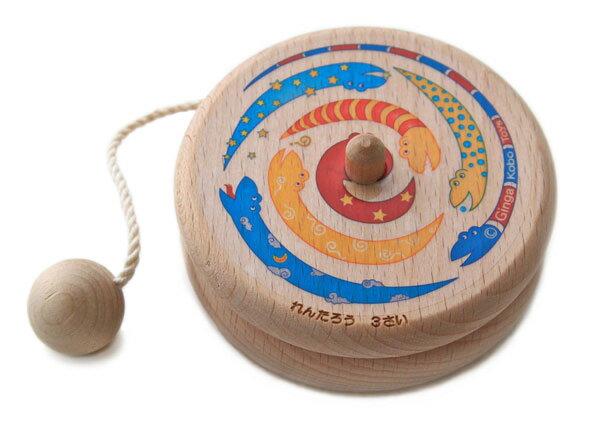 【名入れ可】●色遊びヨーヨー (木のおもちゃ 知育玩具) 男の子 女の子 赤ちゃん おもちゃ 日本製 1歳 2歳 3歳 4歳 5歳 6歳 7歳 8歳 幼児子供〜高齢者 小学生 誕生日ギフト インテリア 紐通し 誕生祝い 木工職人手作り 親子 木育 家族