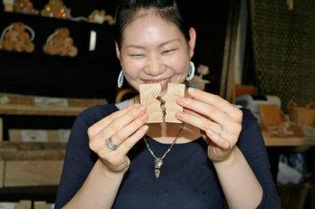 愛する二人(ミニ)木のおもちゃ出産祝い名入れギフト日本製おしゃぶり赤ちゃんおもちゃ銀河工房人形