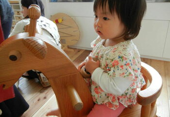木のおもちゃ知育玩具銀河工房積木ブロック子供遊具こどもつみき木馬