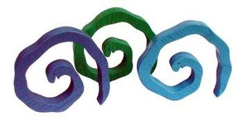 3匹のヘビ木のおもちゃ出産祝い名入れギフト日本製おしゃぶり赤ちゃんおもちゃ銀河工房