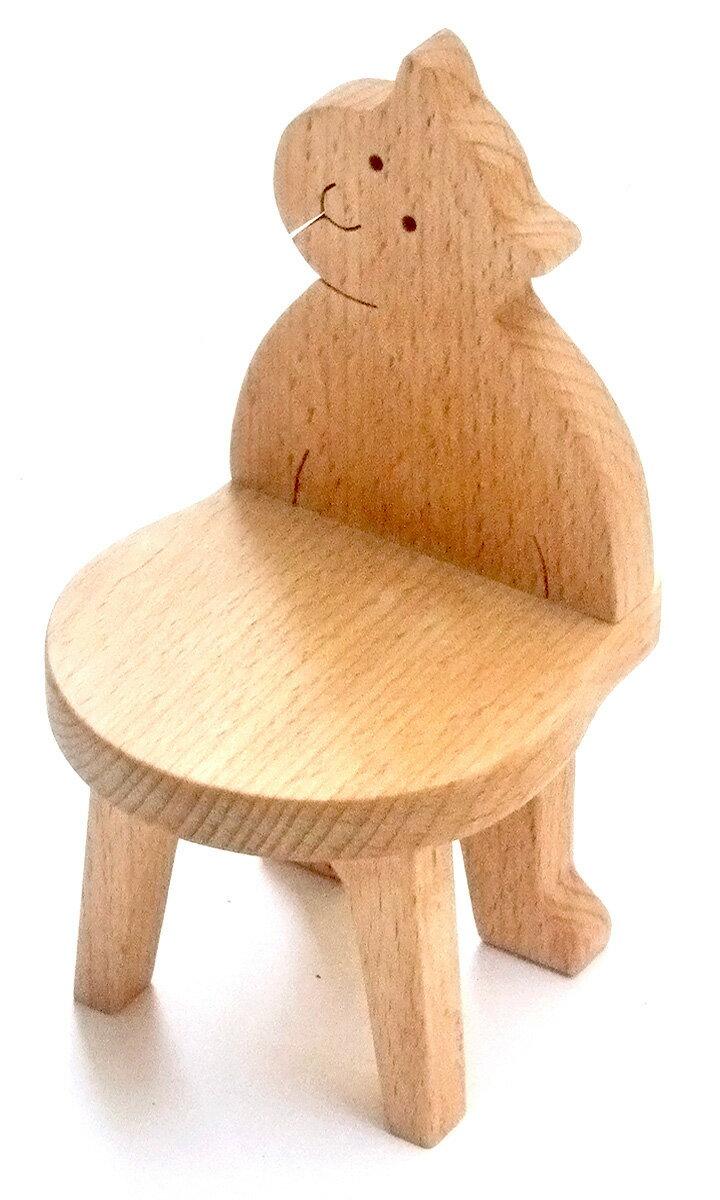 【名入れ可】●ねこのいす ミニチュア家具 木のおもちゃ 子供家具 日本製 誕生 出産祝い 1歳 2歳 3歳 4歳 5歳 6歳 7歳 8歳 幼児子供〜高齢者 小学生 誕生日ギフト〜出産祝い 型はめ 誕生祝い バリアフリー 木工職人手作り 椅子 イス 親子 木育 家族