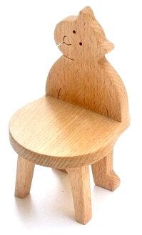 MINIATURE KITTY CHAIR Wooden Toys (Ginga Kobo Toys) Japan