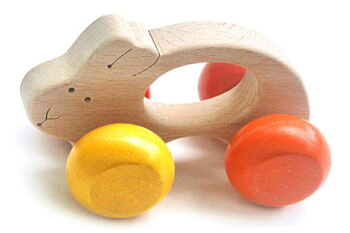 うさぎ車木のおもちゃ出産祝い名入れギフト日本製おしゃぶり