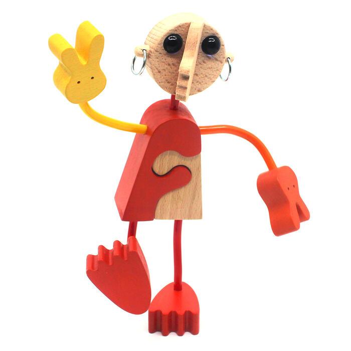 【名入れ可】●木の人形(1号)自由自在にポーズを変えて楽しむことができます。可愛い木のおもちゃ 日本製 6ヶ月 7ヶ月 8ヶ月 9ヶ月 10ヶ月 1歳 2歳 3歳 4歳 5歳 誕生日ギフト〜出産祝い 赤ちゃんおもちゃ 男の子 女の子 誕生祝い 親子 木育 家族 ままごと 知育玩具